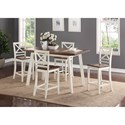 Standard Furniture Amelia Counter Height Two-Tone Table and Chair Set