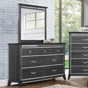 Standard Furniture Anaheim Dresser and Mirror Combination - Item Number: 86159+58