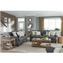Standard Furniture Angelina Charcoal Sofa & Loveseat - Item Number: GRP-4506-SL