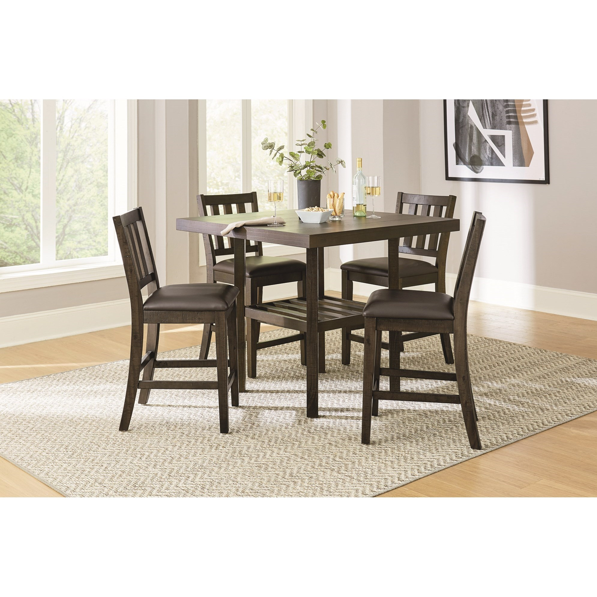 Arlo 5-Piece Counter Height Dining Set by Standard Furniture at Beds N Stuff