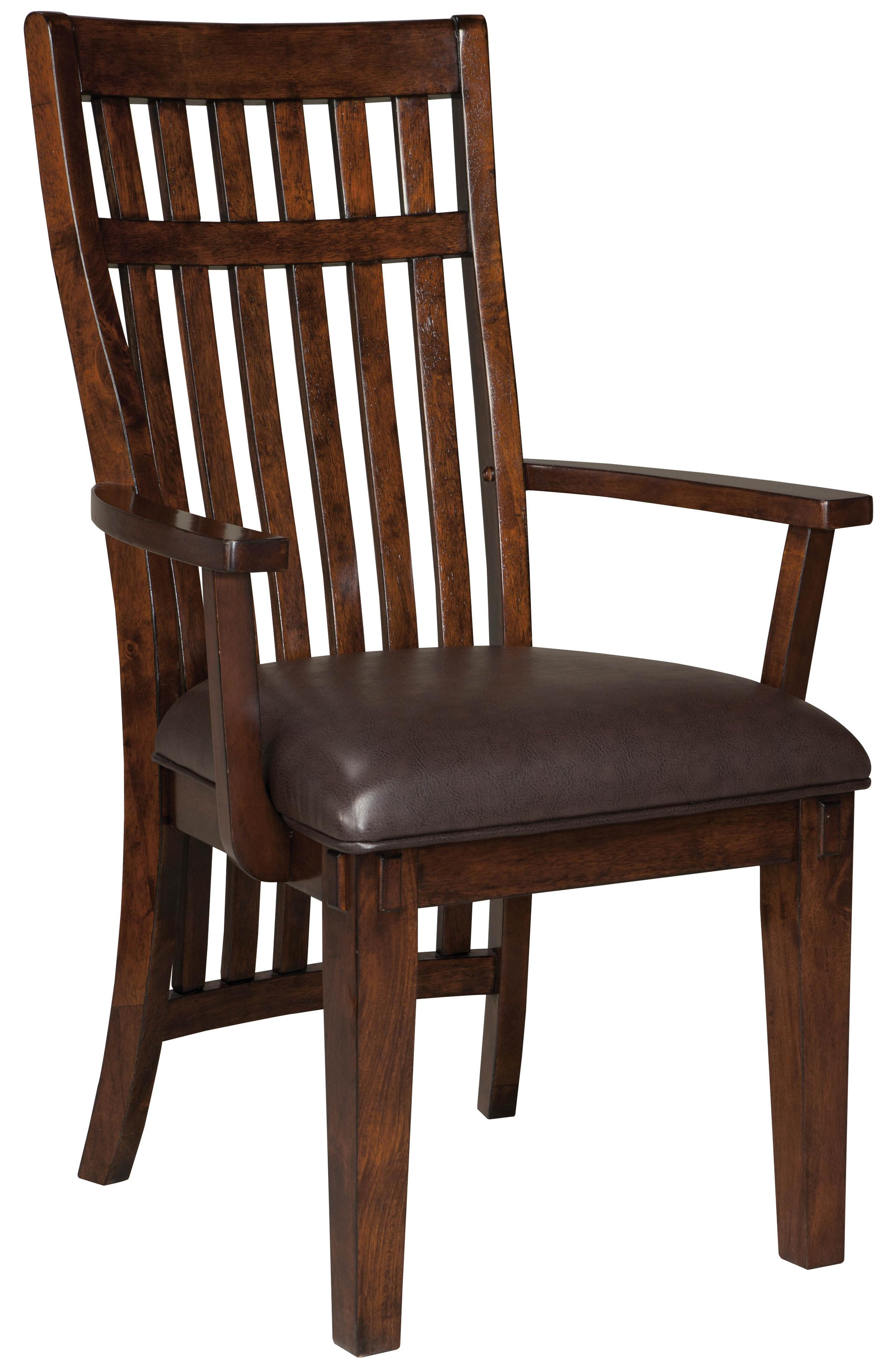 Standard Furniture Loft Upholstered Arm Chair With Vertical Ganged Slat Back