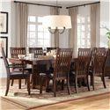 Standard Furniture Artisan Loft 9 Piece Table & Chair Set - Item Number: 13626+6x24+2x25
