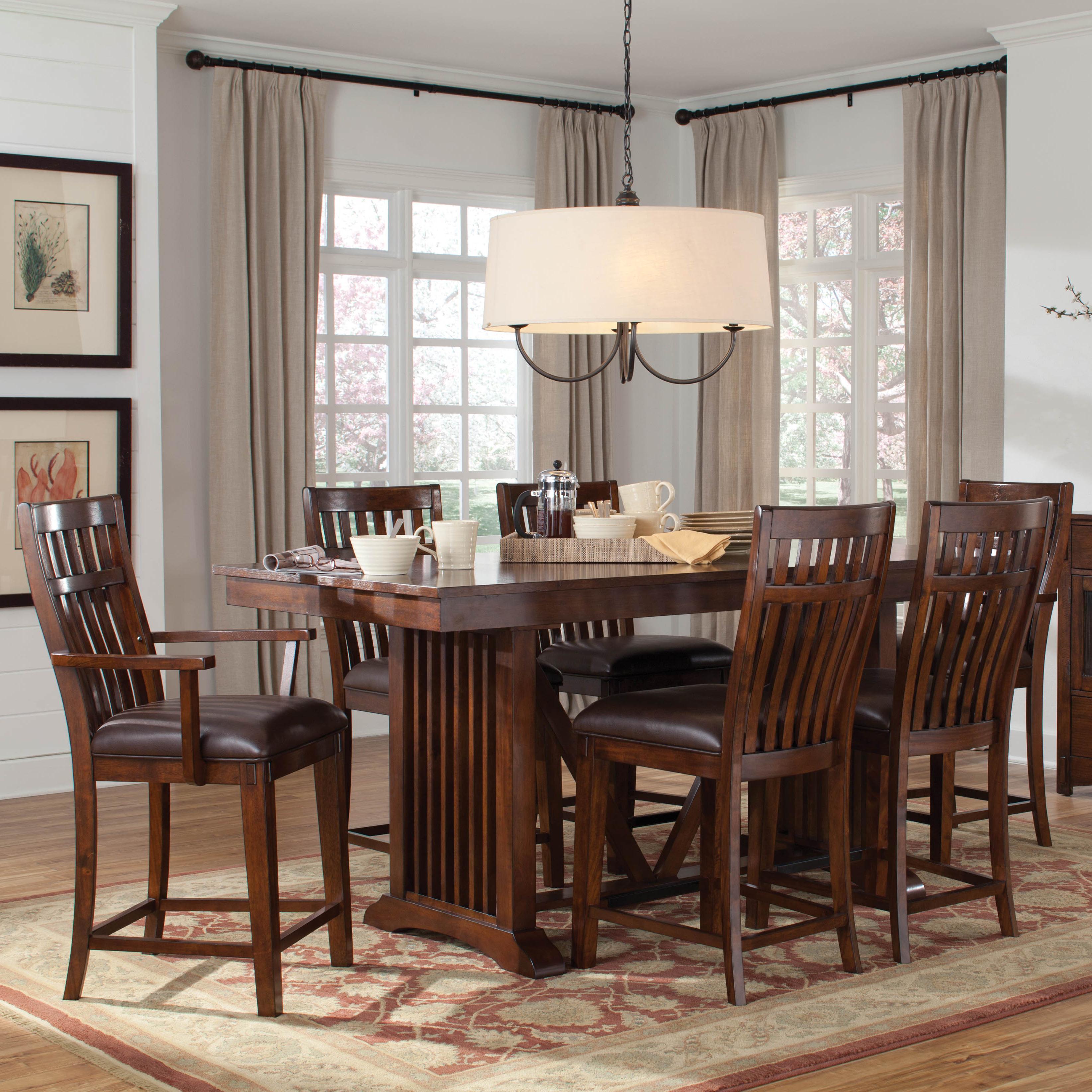 Standard Furniture Artisan Loft 7 Piece Counter Height Set - Item Number: 13636+2x39+4x34