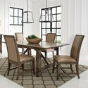 Standard Furniture Aspen 5-Piece Table and Chair Set - Item Number: 14881+2x84