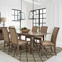 Standard Furniture Aspen 7-Piece Table and Chair Set - Item Number: 14881+3x84