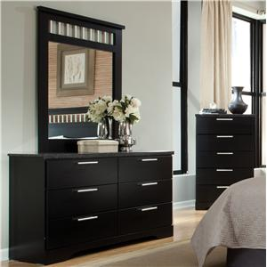 Standard Furniture Atlanta Dresser & Mirror