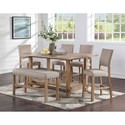 Standard Furniture Aubrun Honey Counter Height Table and Chair Set - Item Number: 11631+2x34+39