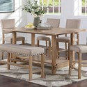 Standard Furniture Aubrun Honey Counter Height Dining Table - Item Number: 11631