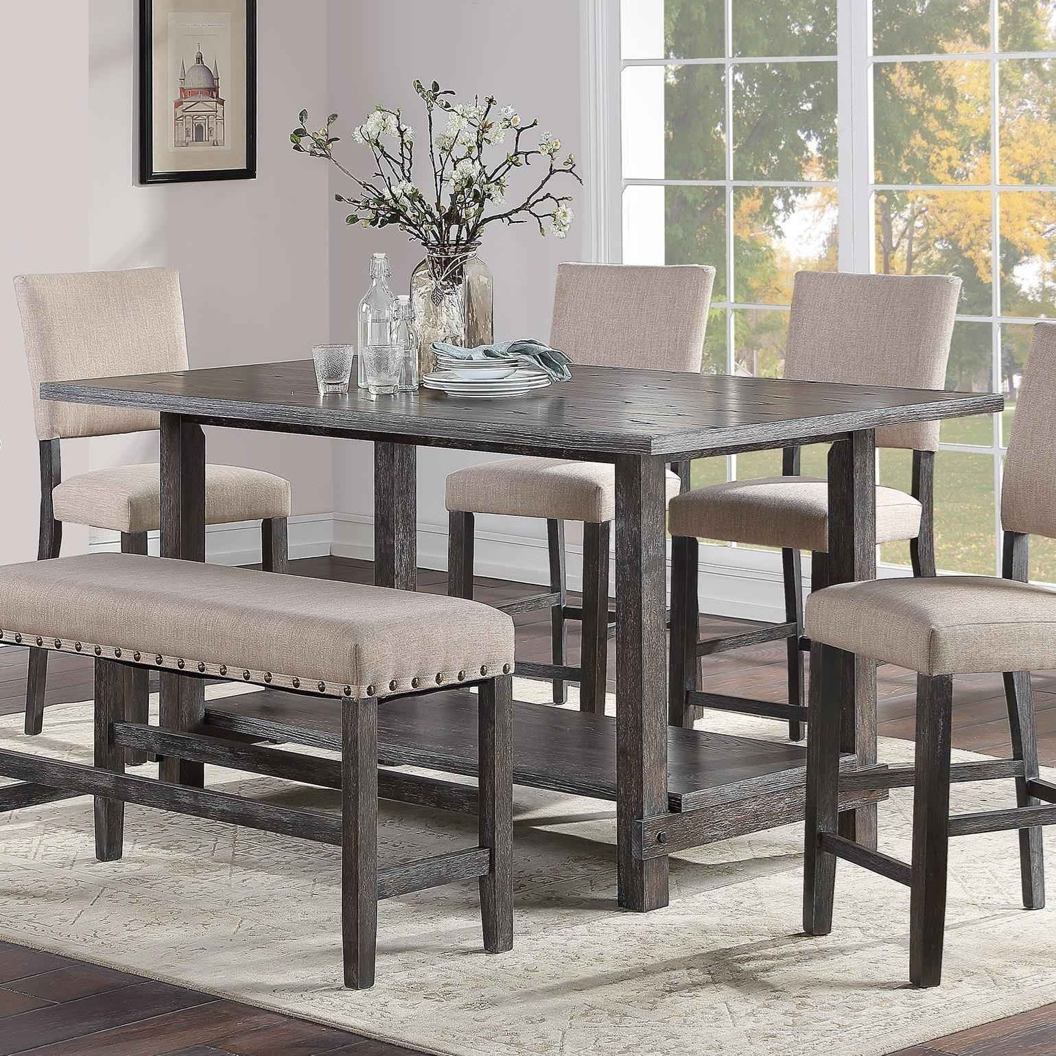 Aubrun Charcoal Counter Height Dining Table by Standard Furniture at Beds N Stuff