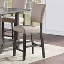 Standard Furniture Aubrun Charcoal Counter Height Dining Chair 2-Pack - Item Number: 12234