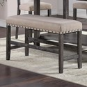 Standard Furniture Aubrun Charcoal Counter Height Dining Bench - Item Number: 12239