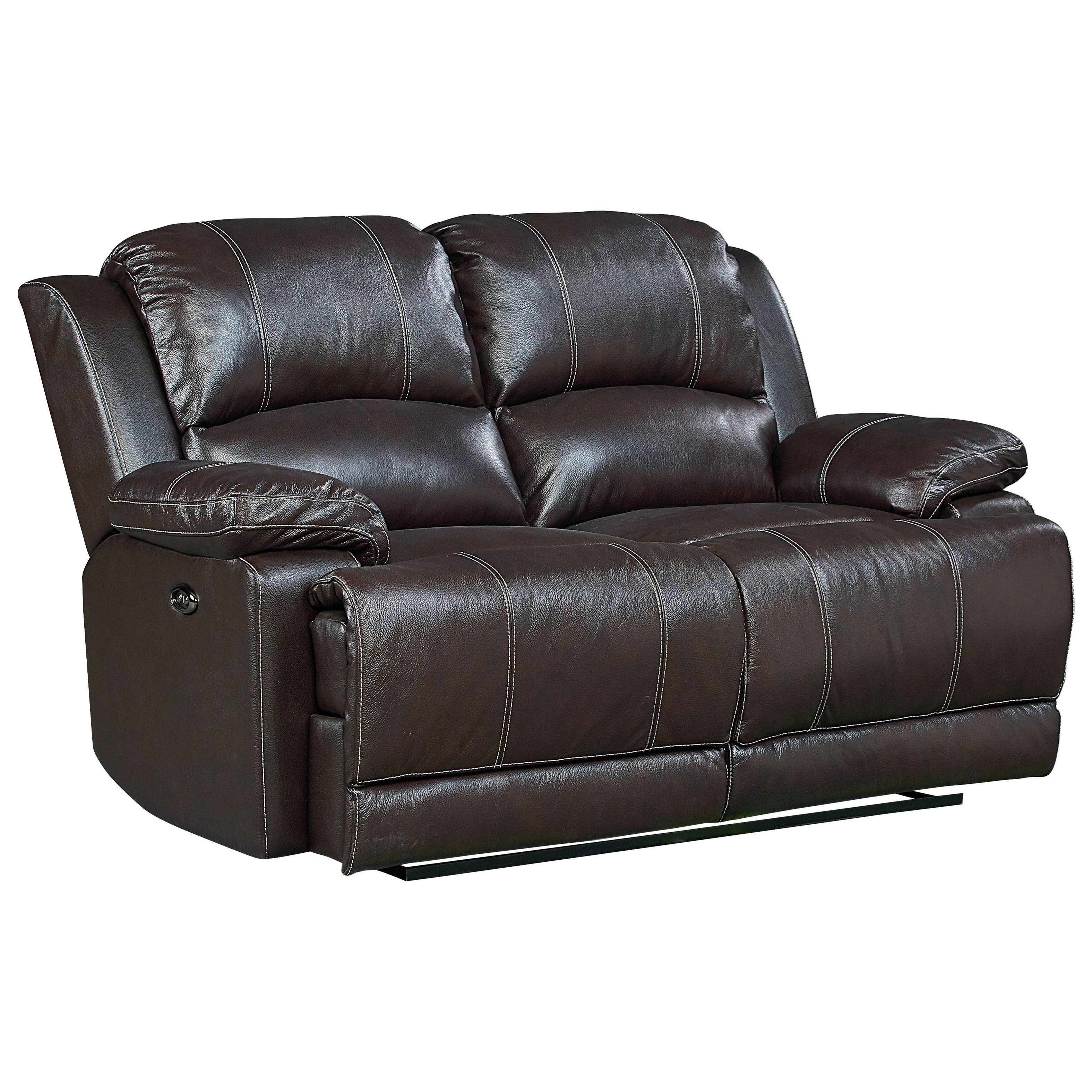 Standard furniture audubon power reclining leather loveseat wayside furniture reclining sofa Power loveseat recliner