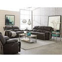Standard Furniture Audubon Power Reclining Leather Sofa - Reclining Mechanism Shown May Not Represent Mechanism Indicated
