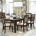 Standard Furniture Avion  7 Piece Dining Table Set  - Item Number: 17821+4x17824+2x17825