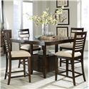 Standard Furniture Avion  5 Piece Counter Height Table Set - Item Number: 17836+4x17834