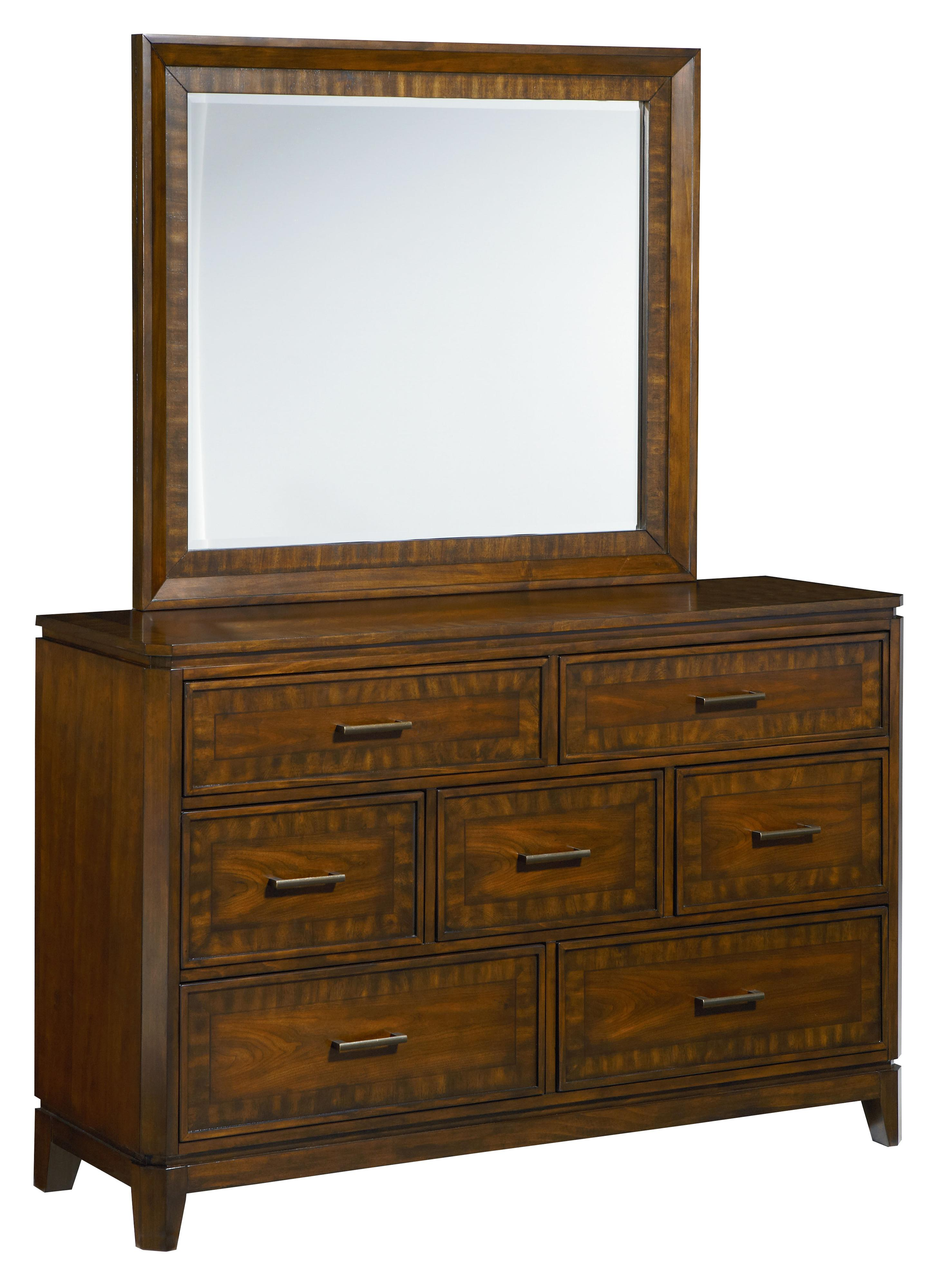Standard Furniture Avion  Dresser with Mirror - Item Number: 86459+86458