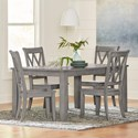 Standard Furniture Baldwin 5 Piece Table and Chair Set - Item Number: 11406+4x11407
