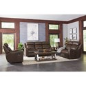 Standard Furniture Bankston Power Reclining Living Room Group - Item Number: 414800 Brown Power Reclining Group