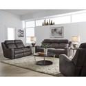 Standard Furniture Bankston Power Reclining Living Room Group - Item Number: 414800 Grey Power Reclining Group 1