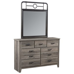 Standard Furniture Barnett Dresser and Mirror Set