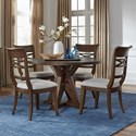 Standard Furniture Beckman Brown 5-Piece Table and Chair Set - Item Number: 14641+2x44