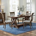 Standard Furniture Beckman Brown 5-Piece Table and Chair Set - Item Number: 14646+2x44