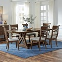 Standard Furniture Beckman Brown 7-Piece Table and Chair Set - Item Number: 14646+3x44
