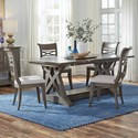 Standard Furniture Beckman Grey 5-Piece Table and Chair Set - Item Number: 15646+2x44