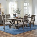 Standard Furniture Beckman Grey 7-Piece Table and Chair Set - Item Number: 15646+3x44