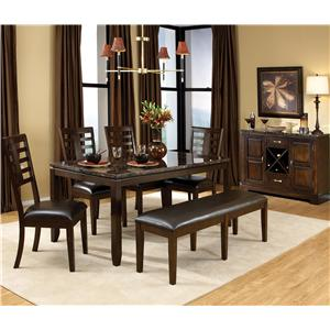 Standard Furniture Bella 6 Piece Dining Table Set