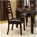 Standard Furniture Bella 6 Piece Rectangular Leg Dining Table with Ladderback Side Chairs & Brown Bench - Side Chair
