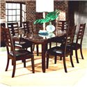Standard Furniture Bella Rectangular Dining Table with Faux Marble Top - Shown with Side Chairs