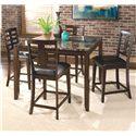 Standard Furniture Bella 5 Piece Dining Set - Item Number: 16856+4x5