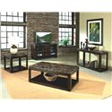 Standard Furniture Bella End Table with Faux Marble Top - Shown with TV Console, Cocktail Table and Sofa Table