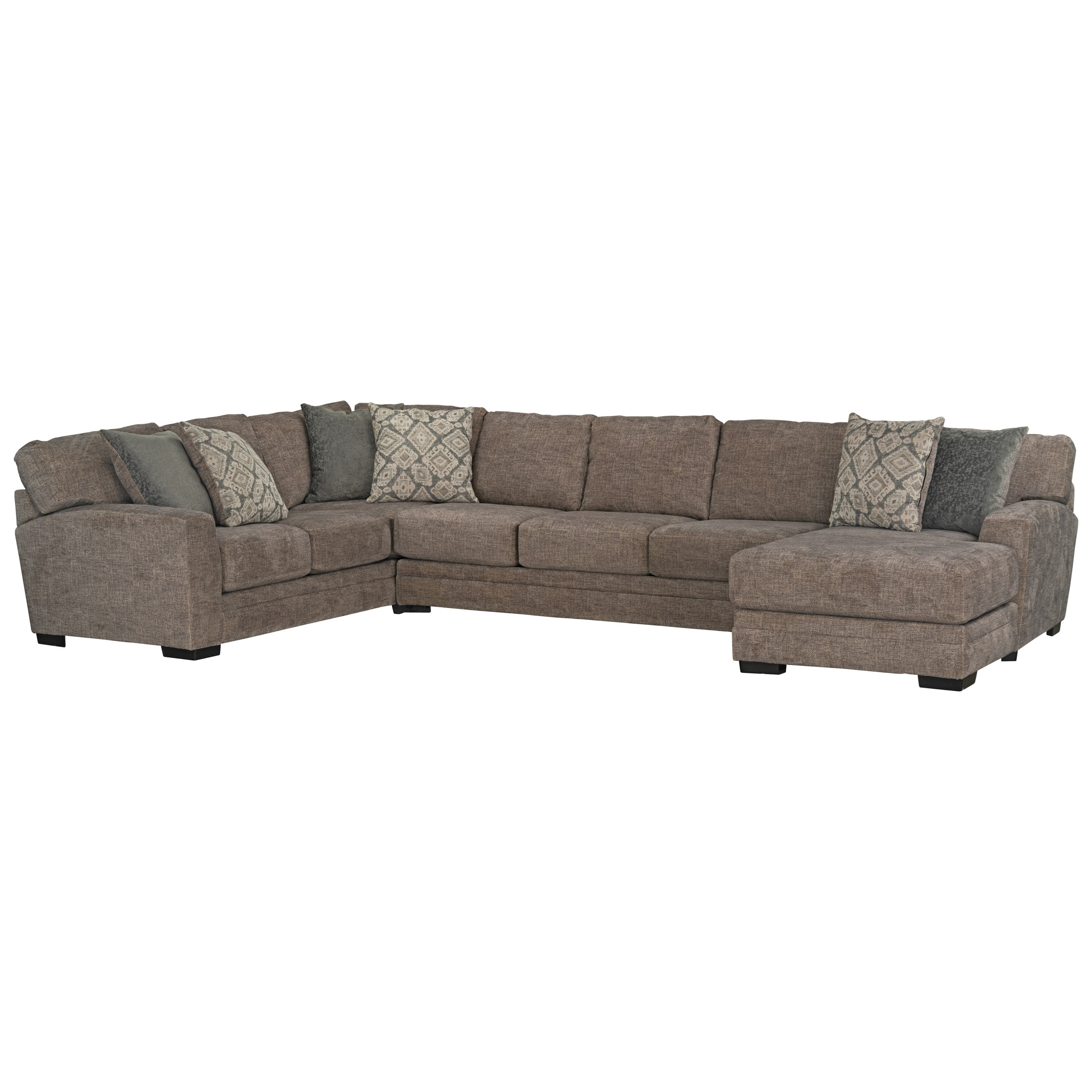 Pillows For Sectional Sofa: Standard Furniture Belleview Transitional Sectional Sofa