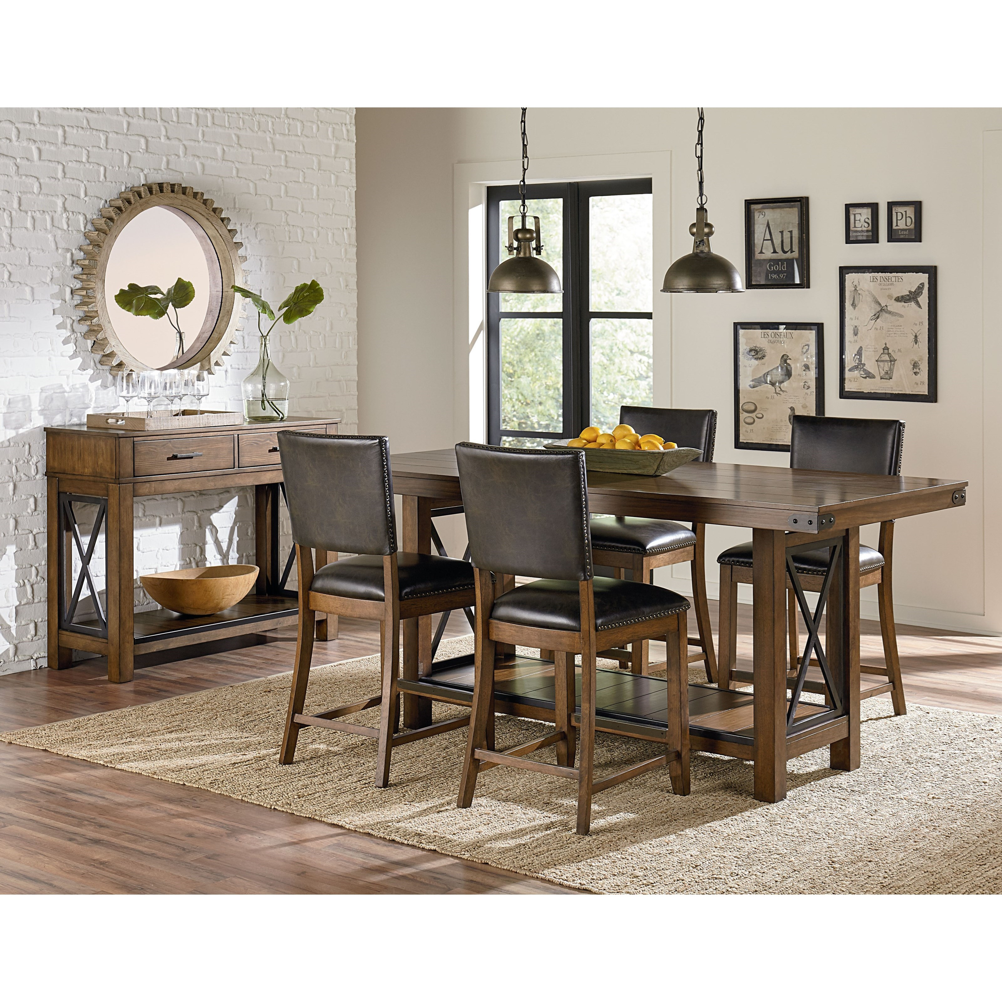 Standard furniture benson casual dining room group for Casual dining room