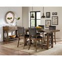 Standard Furniture Benson Counter Height Table with Trestle Base and X-Accents