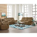Standard Furniture Boardwalk Reclining Living Room Group - Item Number: 401700 Brown Reclining Living Room