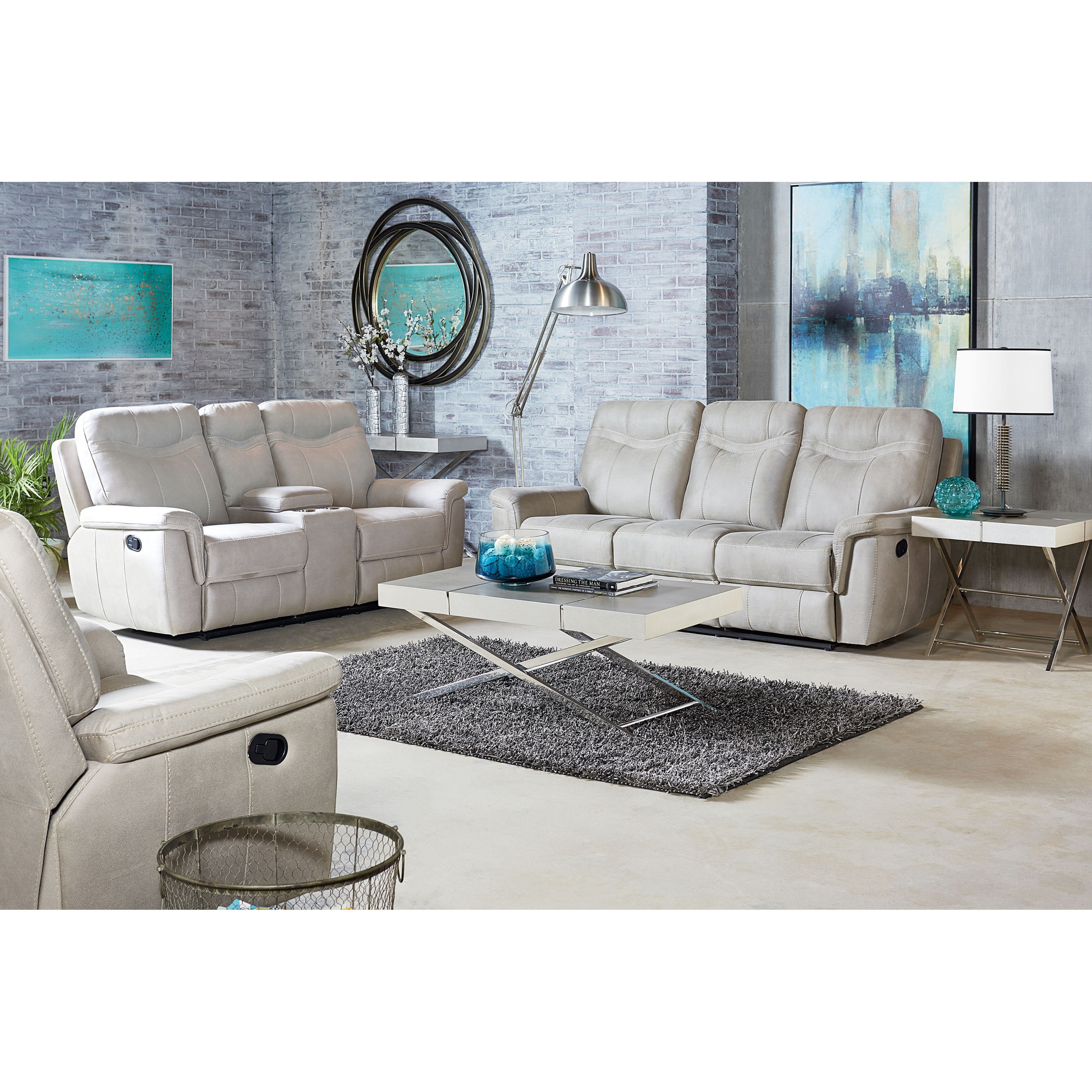 Standard Furniture Boardwalk Reclining Living Room Group - Item Number: 401700 Reclining Living Room Group