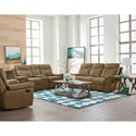 Standard Furniture Boardwalk Contemporary Stone Colored Reclining Sofa