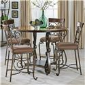 Standard Furniture Bombay Counter Height Table and Chair Set - Item Number: 13436+4x13434