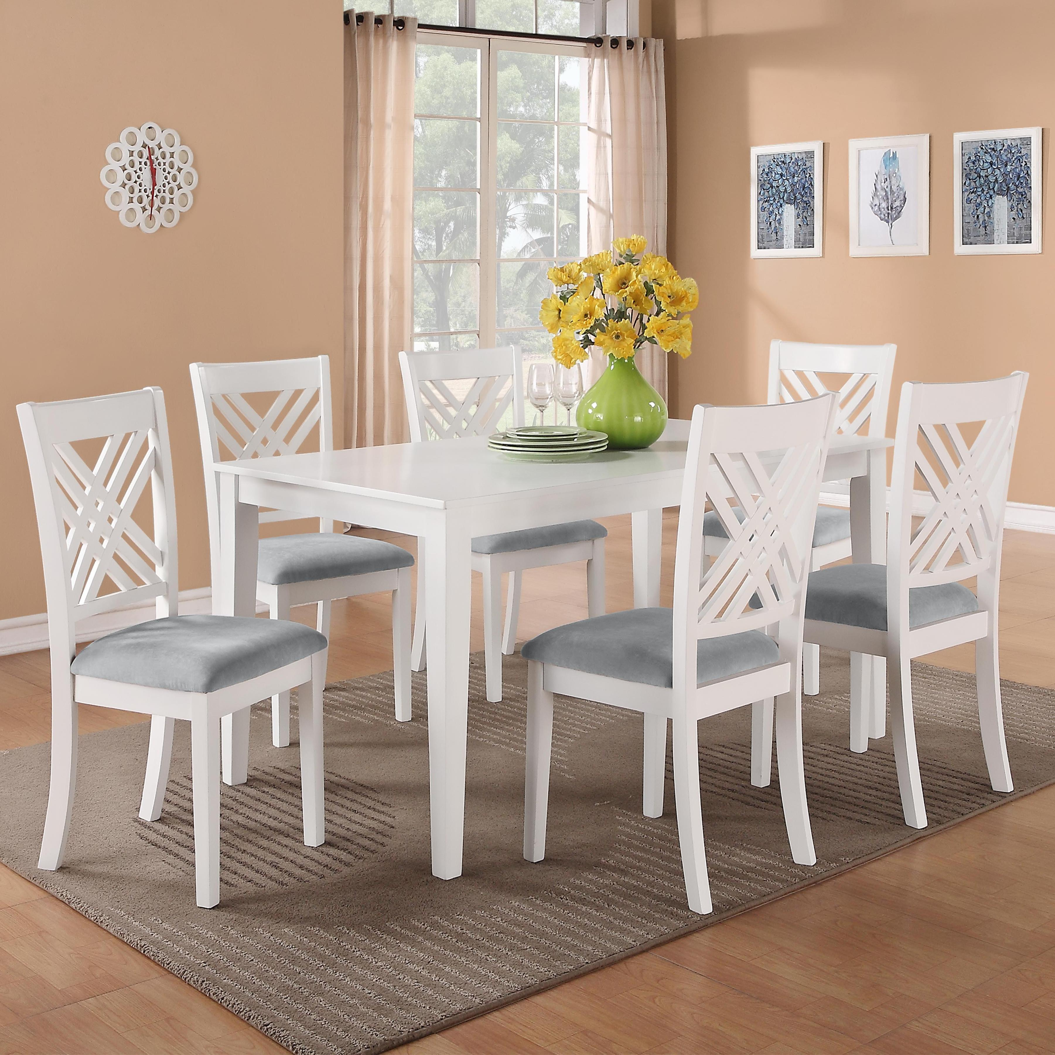 Standard Furniture Brooklyn 7 Piece Table & Chair Set - Item Number: 18282