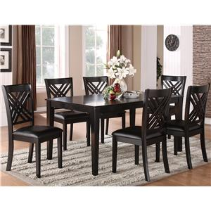 Standard Furniture Brooklyn 7 Piece Table & Chair Set