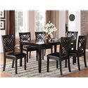 Standard Furniture Brooklyn 7 Piece Table & Chair Set - Item Number: 18762