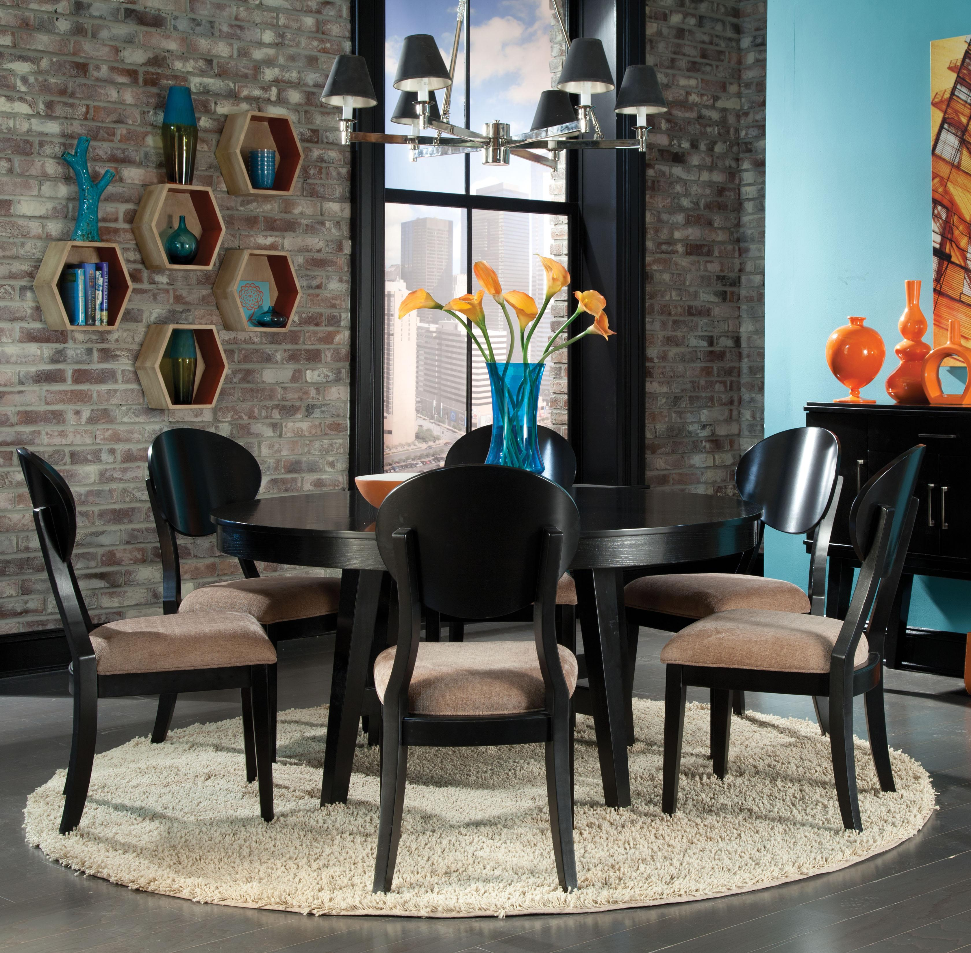 Standard Furniture Bryant 7 Piece Dining Table Set   Item Number:  17506+6x17504