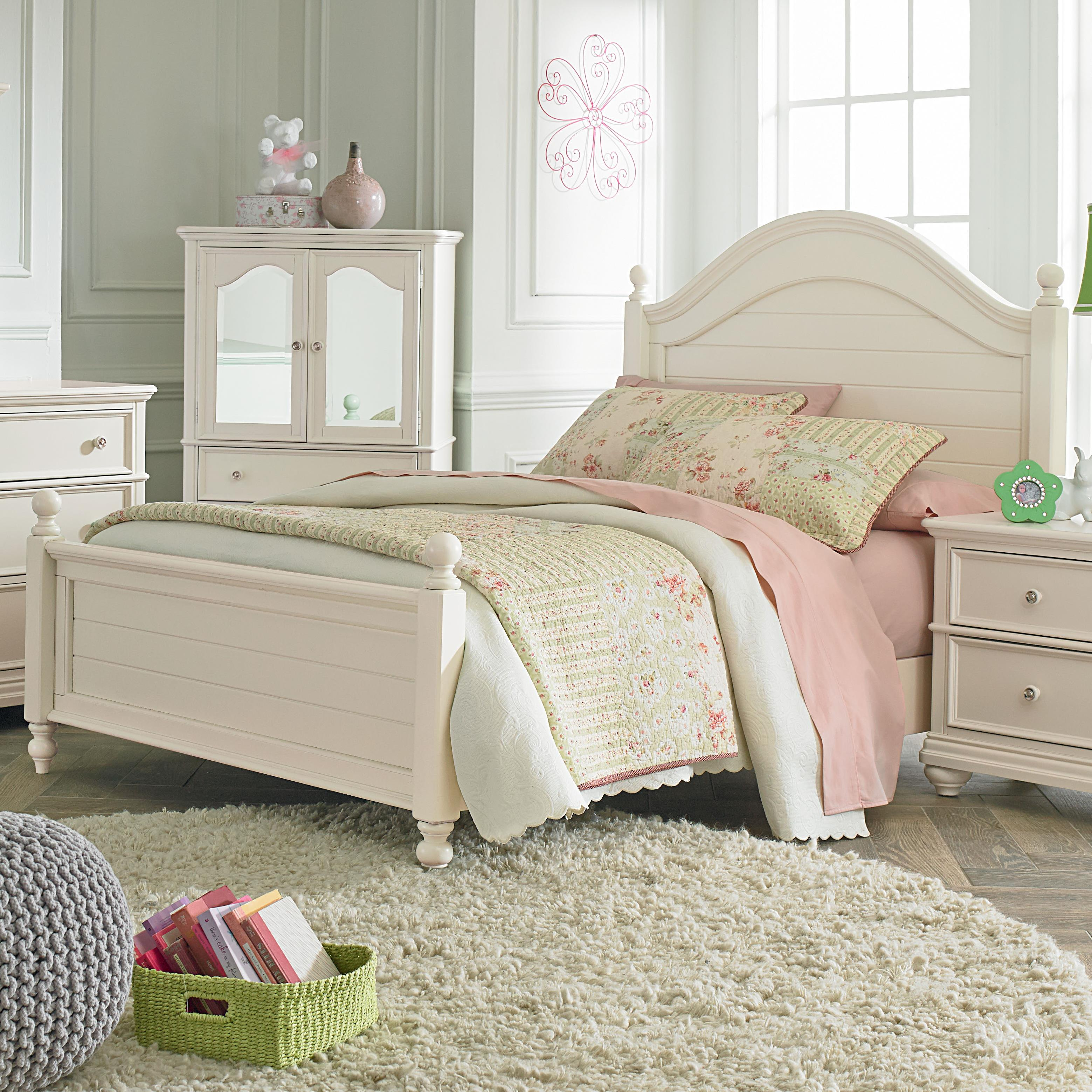 Standard Furniture Camellia Marshmallow Twin Bed with Cannonball Bed Posts - Item Number: 95201+02+03