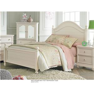 Standard Furniture Camellia Marshmallow Full Bed with Cannonball Bed Posts