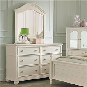 Standard Furniture Camellia Marshmallow Dresser and Mirror Combination