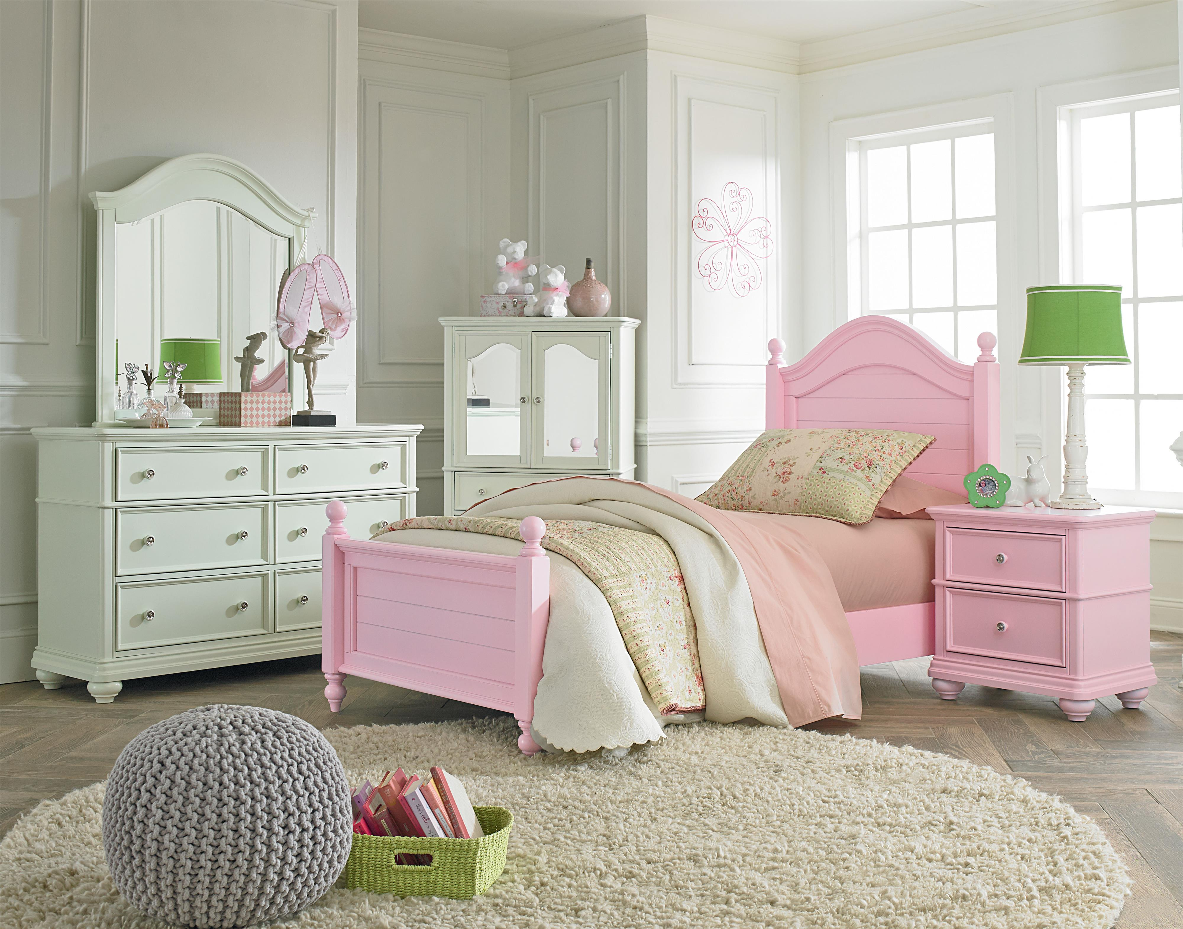 Standard Furniture Camellia Bubble Gum Twin Bedroom Group - Item Number: 95210 T Bedroom Group 1