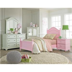 Standard Furniture Camellia Bubble Gum Twin Bedroom Group